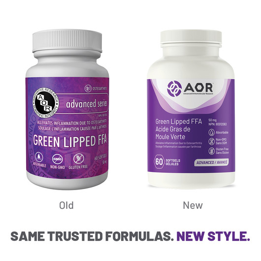 AOR Green Lipped FFA 60 Softgels New Style