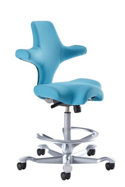Ergo Chair for Technologists (with foot ring)
