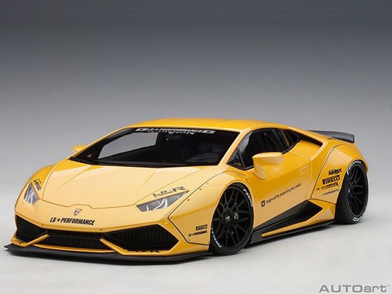 Auto Art 1 18 79124 Liberty Walk Lb Works Lamborghini Huracan Yellow Hobby Station