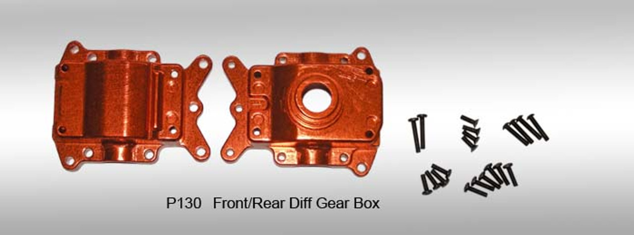 DHK aluminum Front/Rear Diff Gear Box Upgrade for 1/8 DHK