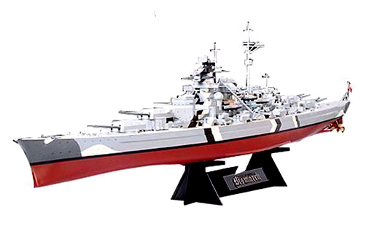 Tamiya - 1/350 German Battleship Bismarck Plastic Model Kit [78013