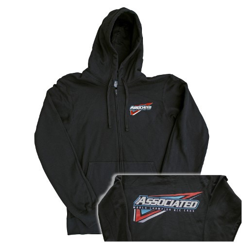 Team Associated Tri Zip Hoodie (Black)