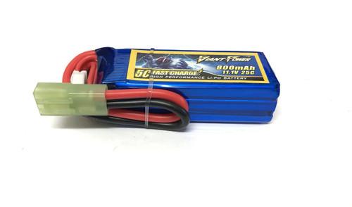 Giant Power 3S 11.1V 800mAh 25C Li-Po w/ Mini-Tamiya Plug