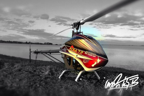 KDS Agile 7.2 Collective Pitch 3D Helicopter Kit with Blades