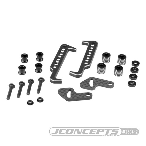 JConcepts - Swing Operated Battery Retainer Set (B6.1/SC6.1/T6.1) (Black)