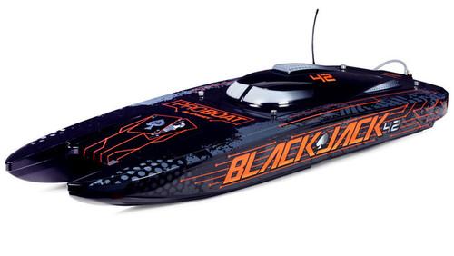 Blackjack 42-inch Brushless 8S Catamaran, Black/Oranage:RTR 55+ Mph by Pro Boat