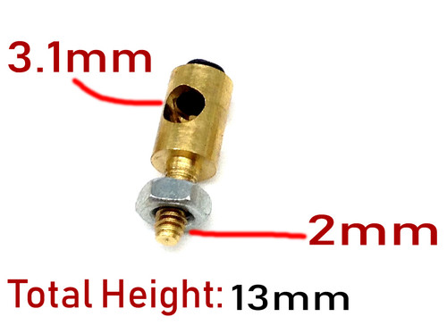 Brass servo arm connectors ( for 3.1mm wire )