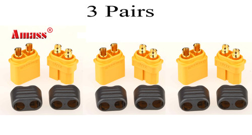 New Amass XT60 Connector RC Hobby Plug ( 3 pairs)