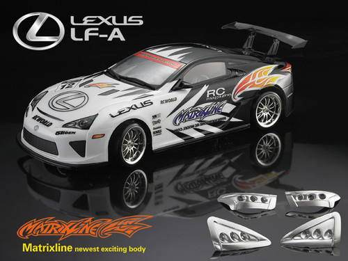 Lexus LF-A clear body with Decal sheet - Hobby Station