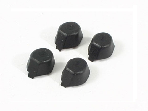 HUBSAN Replacement Rubber Feet for X4 H107A Quadcopter (Black)(4pcs)