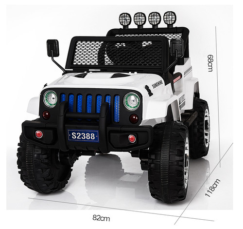 3afdda58583 Latest 4 wheel drive Jeep 12V with Soft Rubber wheel - Hobby Station