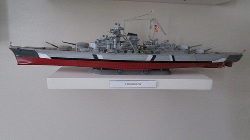 Tamiya - 1/350 German Battleship Bismarck Plastic Model Kit [78013