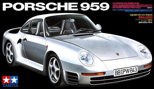 Tamiya - 1/24 Porsche 959 Plastic Model Kit [24065]