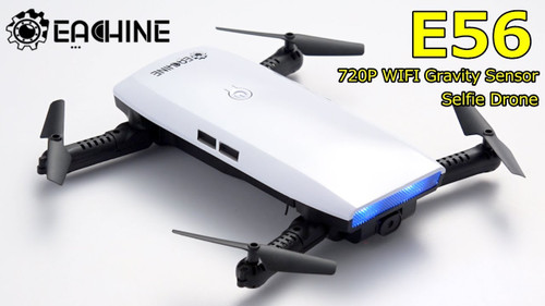 Eachine E56 720P WIFI FPV Selfie Drone + Gravity Sensor Altitude Hold RC Quadcopter RTF
