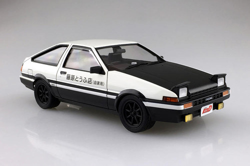 Aoshima 04678 Initial D T Fujiwara Toyota Sprinter Trueno AE86 1//24 Model Kit