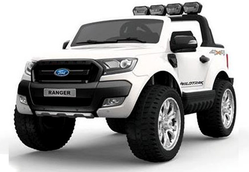 Ford Ranger ride on car, 4 Wheel drive and Rubber tyres_ Huge Size (white)