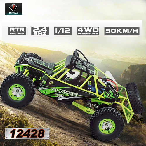 WLtoys 12428 1/12 2 4G 4WD RC Off Road Crawler Buggy 50km/h Speed W/ LED  Light