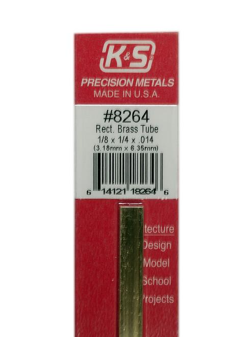 "K&S Brass Rectangle Tube 1/8"" x x1/4"" 12"" #8264"