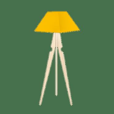 Yellow Tripod Floor Lamp
