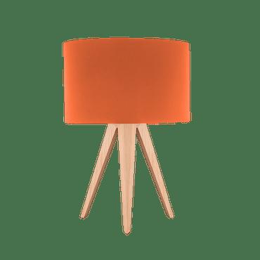 Orange Tripod Table Lamp