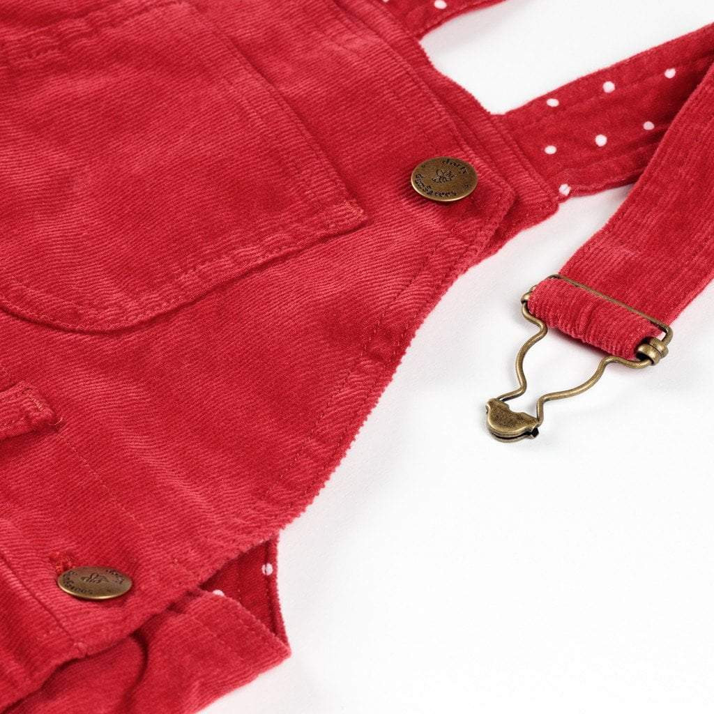 Red Corduroy Dungarees