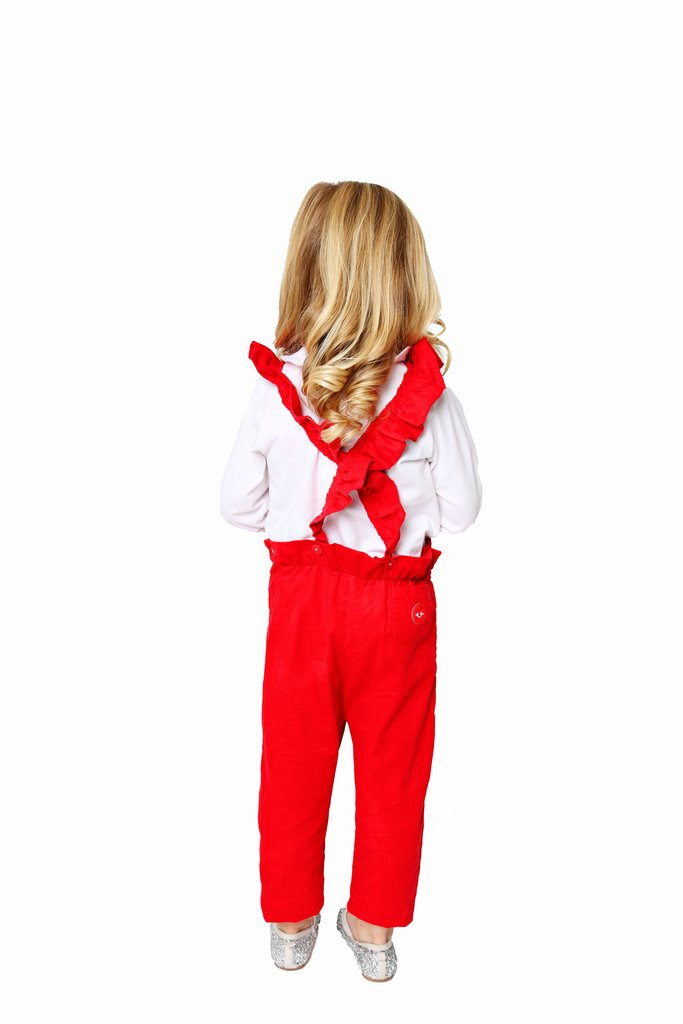 Classic Red Corduroy Flutterall