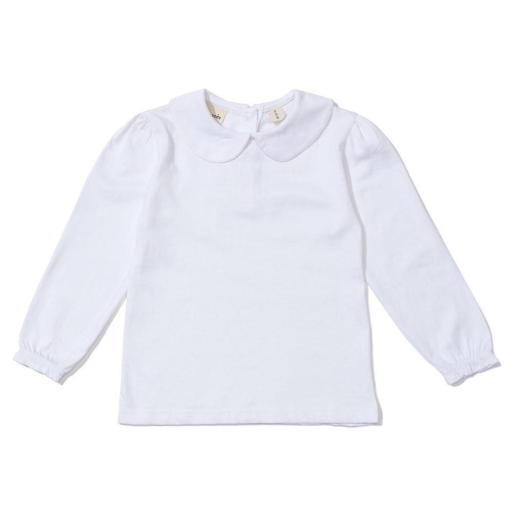 Peter Pan Collar Shirt, White