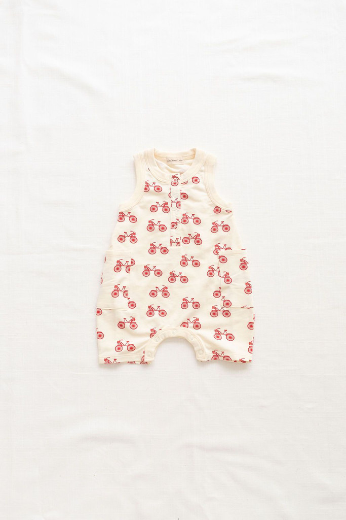 French Terry Short Jumpsuit, Bikes