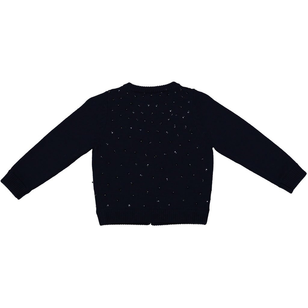 Maude Beaded Sweater Navy