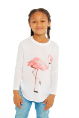 Flamingo Long Sleeve Tee
