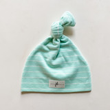 Spring Mint Top Knot Hat