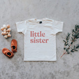 Little Sister Organic Kids Tee, Mauve Ink