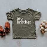 Olive Big Brother Kids Tee