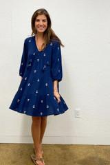 Women's Short Indira Dress, Dress Blues