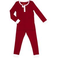 Red  Organic Pajamas, Long Sleeve