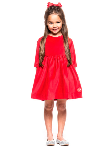 Winnie Dress,  Cherry Red Velvet