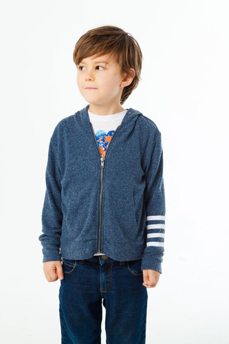 Love Knit Zip Up Hoodie with Strappings