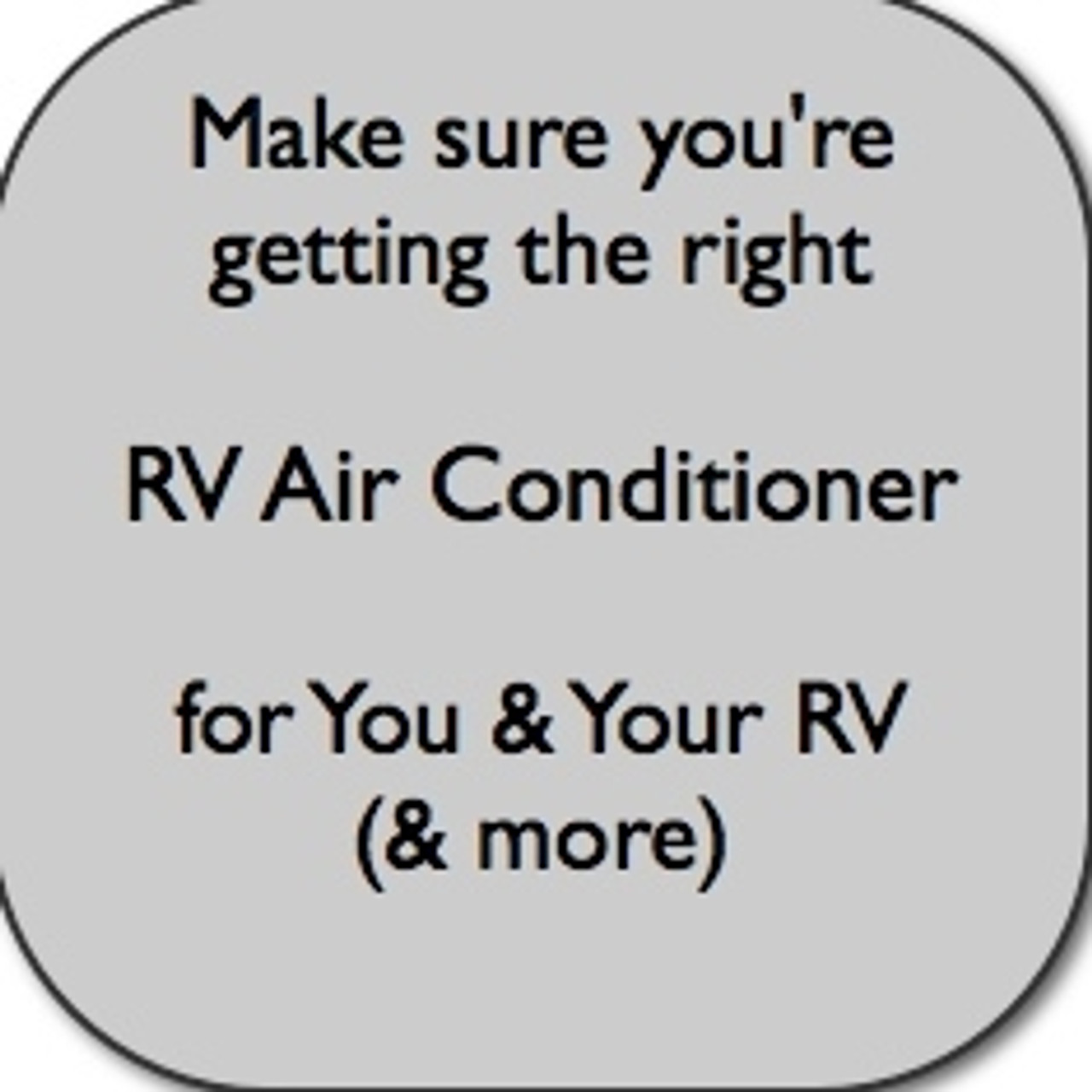 RV Air Conditioner, replacement or new