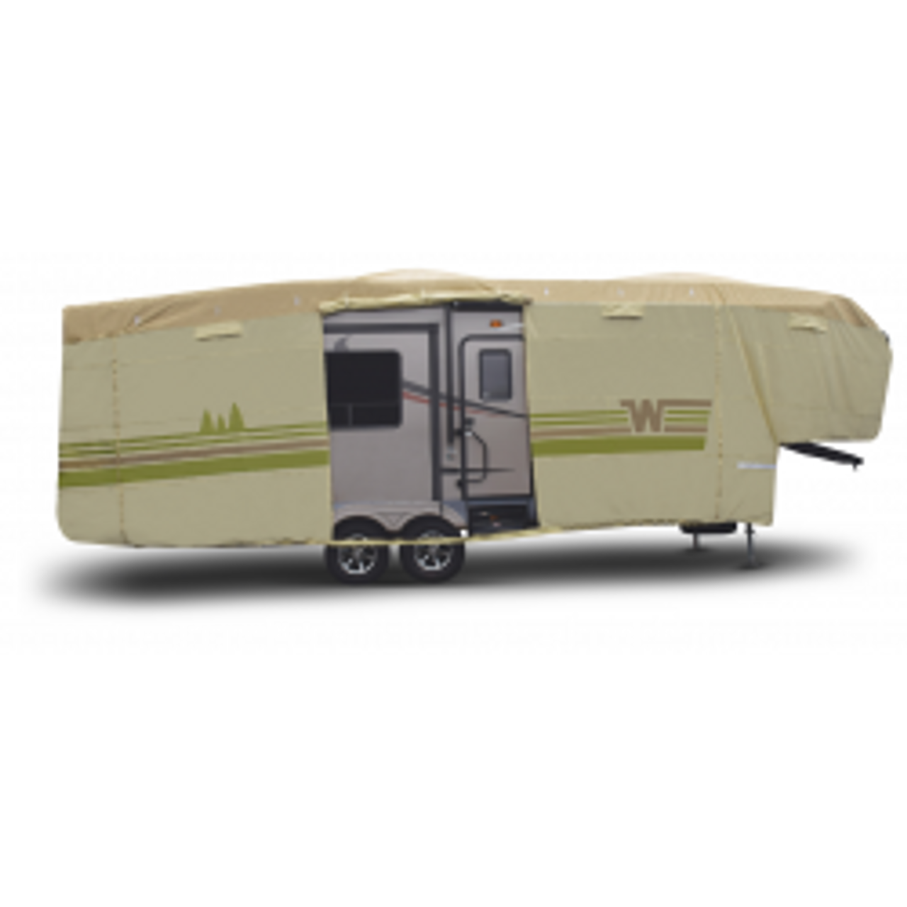 Contour-fit Fifth Wheel Covers