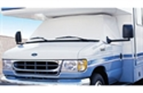 Adco Class C Windshield Cover - Chevy, 2001-2015 with mirror cut-out