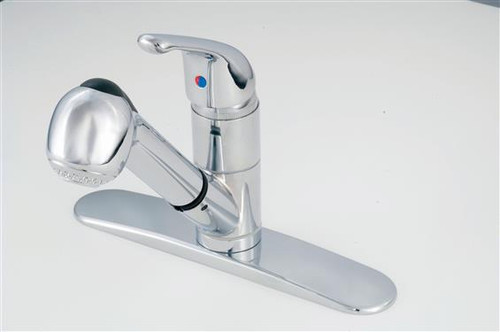 Single Lever Metal Kitchen Faucet with pull-out Spout, Chrome