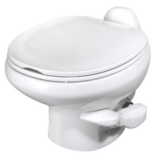 Aqua-Magic STYLE II RV Toilet - Low Profile - Color: Bone w/Sprayer