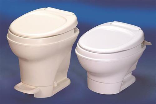 Aqua-Magic V Hand Flush - Low Model - Color: Parchment