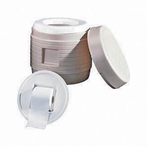 Portable toilet, round hassock