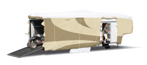 """Designer Series Tyvek RV Cover, 5th Wheel - 25'7""""-28'"""