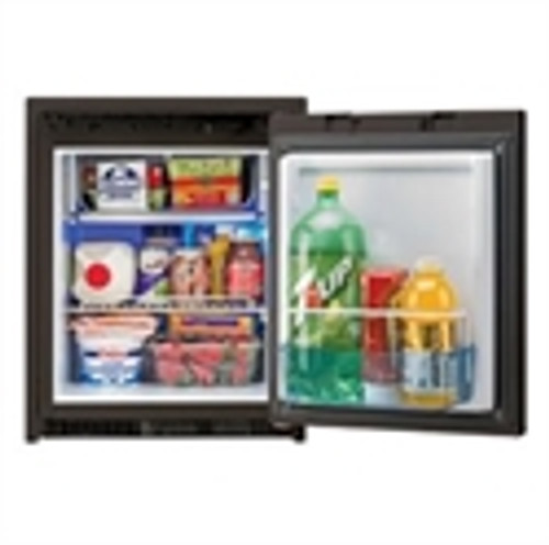 AC/DC Refrigerator+Freezer with Black Door, 1.7 cf