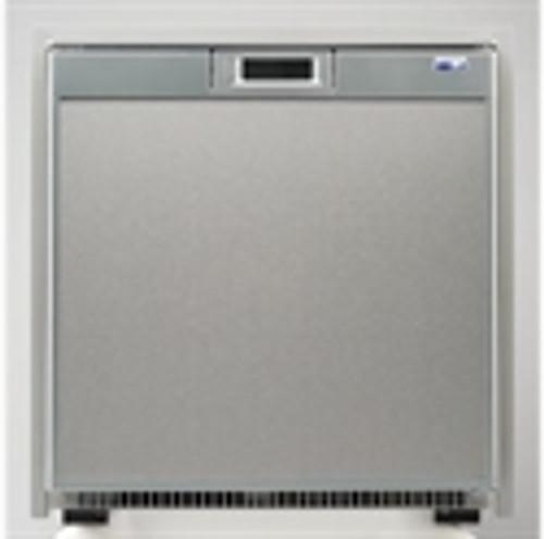 AC/DC Refrigerator+Freezer with Stainless Steel Door, 2.7 cf
