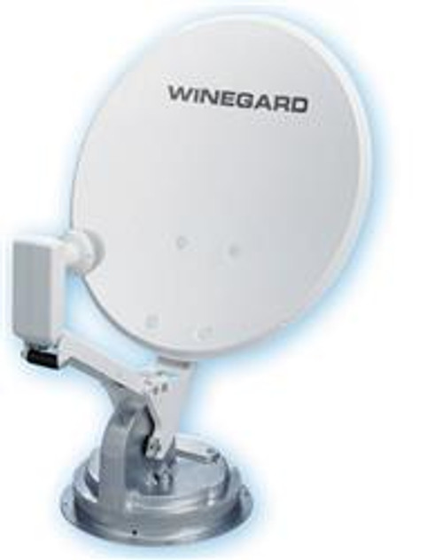 RV Roof Mount Crank-Up Satellite Dish System - Style: Crank-Up System with elevation sensor