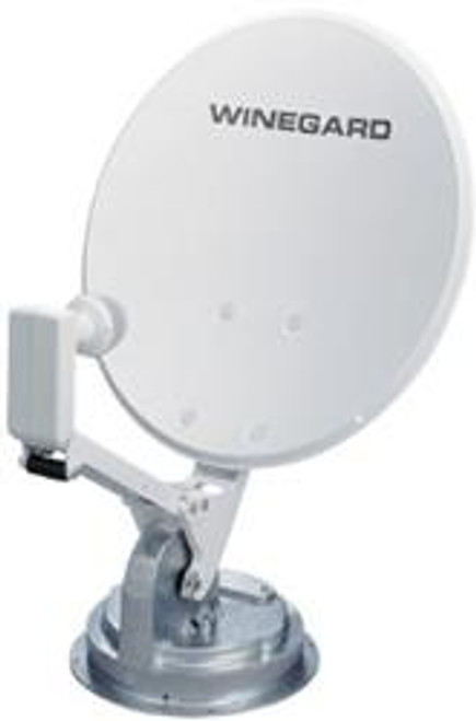 RV Roof Mount Crank-Up Satellite Dish System - Style: Crank-Up System with no elevation sensor