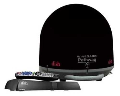Pathway X1 Portable Satellite Antenna + Receiver Bundle, black